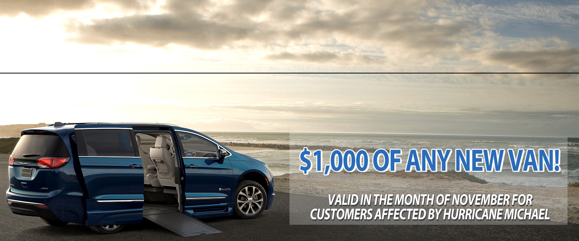 November Special - $1,000 off a new mobility vehicle The Gulf Coast