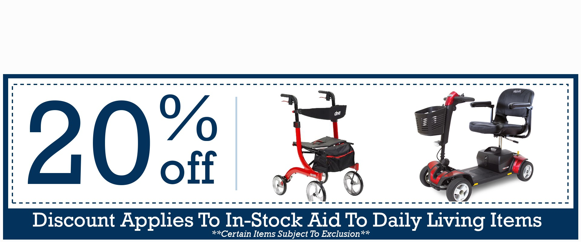 Special Discounts for In-Stock Aid To Daily Living Items The Gulf Coast